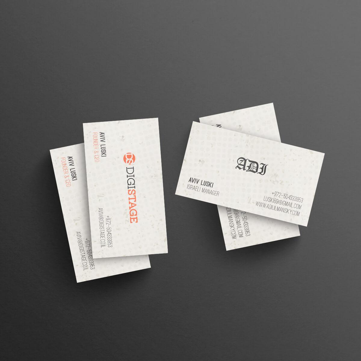 עיצוב כרטיסי ביקור לעסקים ויזמים אביב לוסקי | ליאור דקל ליבה
