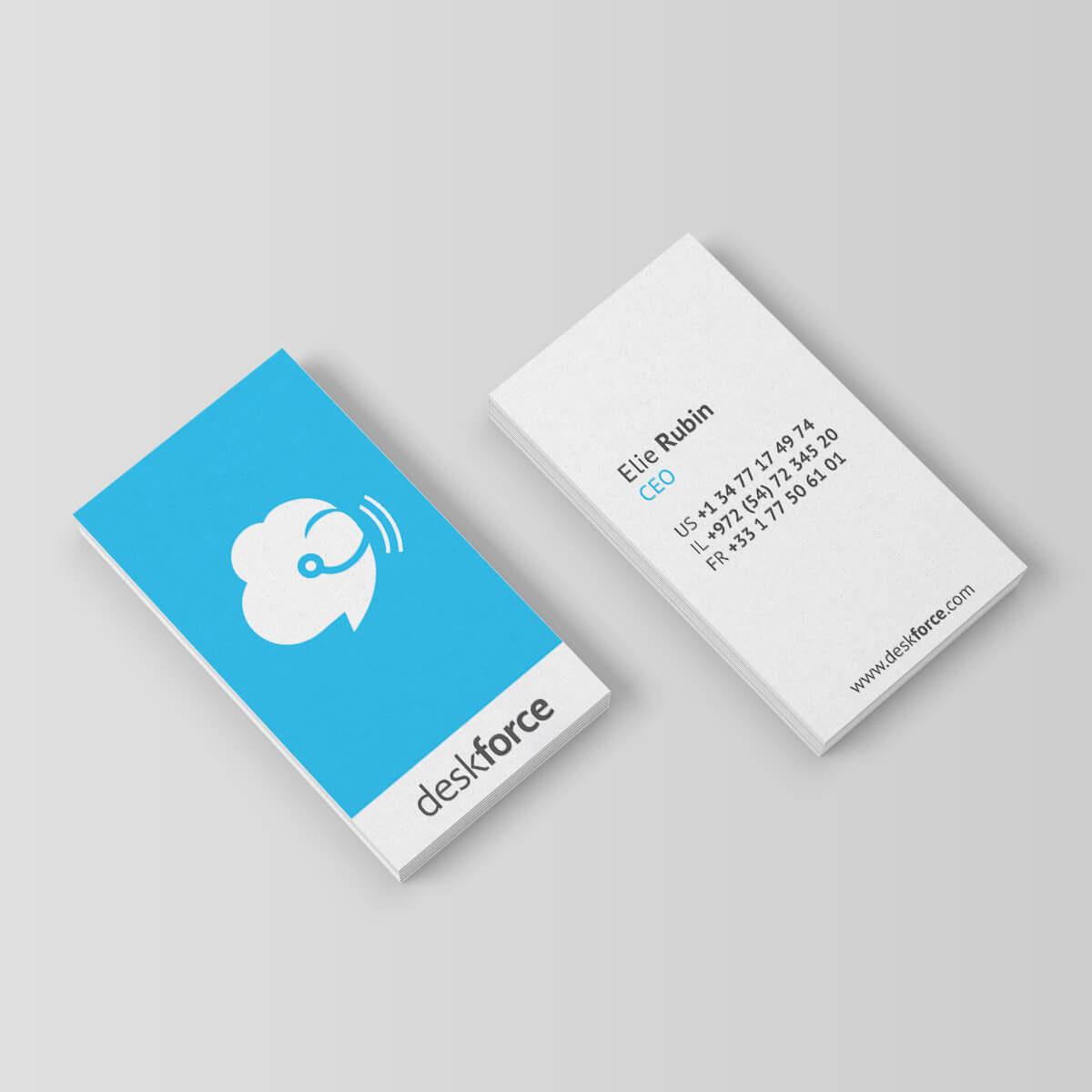 עיצוב כרטיס ביקור deskforce | ליאור דקל ליבה