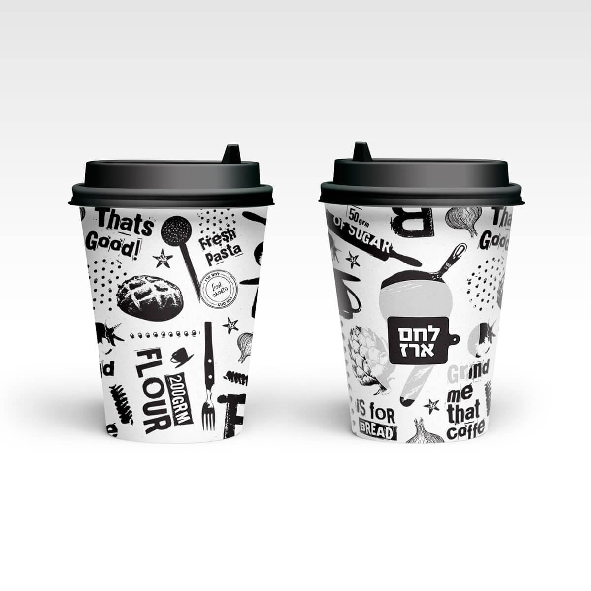 מיתוג כוסות שתייה קפה קפה | ליאור דקל ליבה
