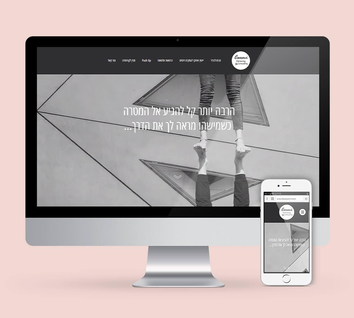 עיצוב ובניית אתר תדמית Carmi Marketing ליווי עסקים דנה כרמי
