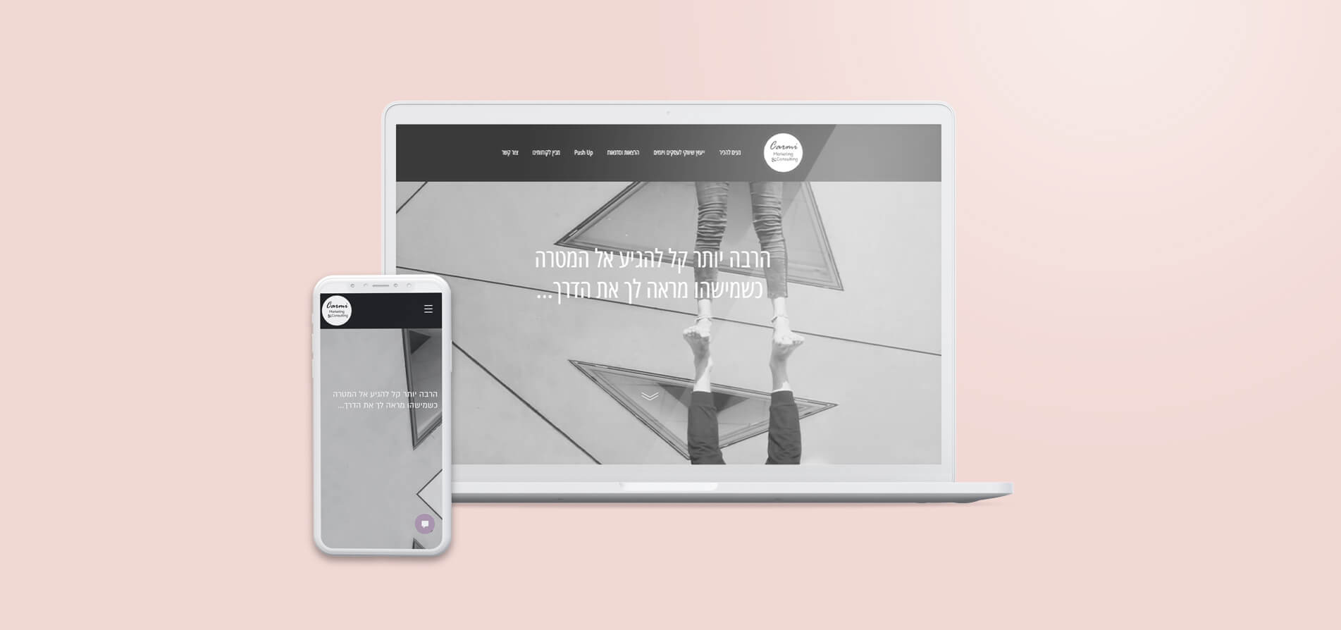 עיצוב ובניית אתר תדמית רספונסיבי Carmi Marketing ליווי עסקים דנה כרמי